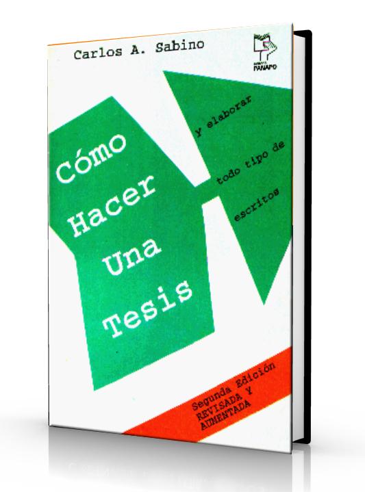 Como hacer una tesis - Carlos Sabino - Ebook - PDf